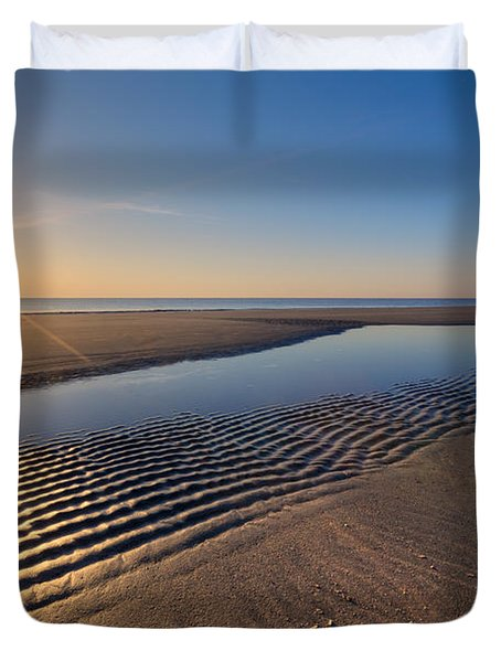 Sunshine On The Beach Duvet Cover by Debra and Dave Vanderlaan