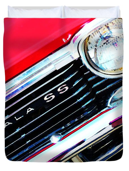 Super Sport 2 - Chevy Impala Classic Car Duvet Cover by Sharon Cummings