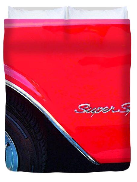 Super Sport - Chevy Impala Classic Car Duvet Cover by Sharon Cummings