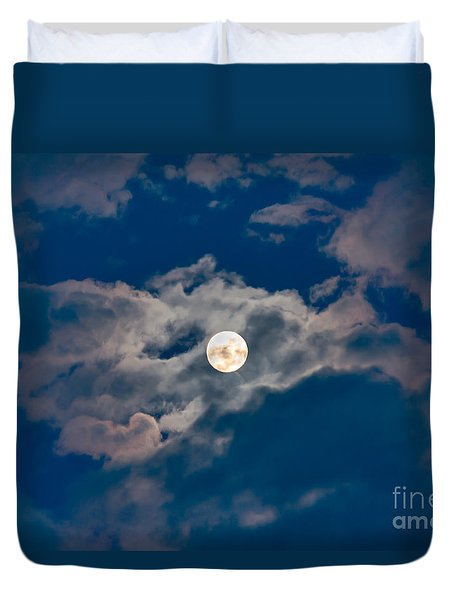 Supermoon Duvet Cover by Robert Bales
