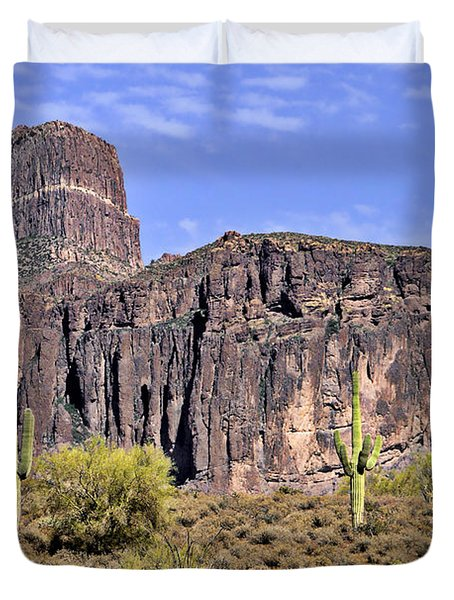 Superstition Wilderness Arizona Duvet Cover by Christine Till