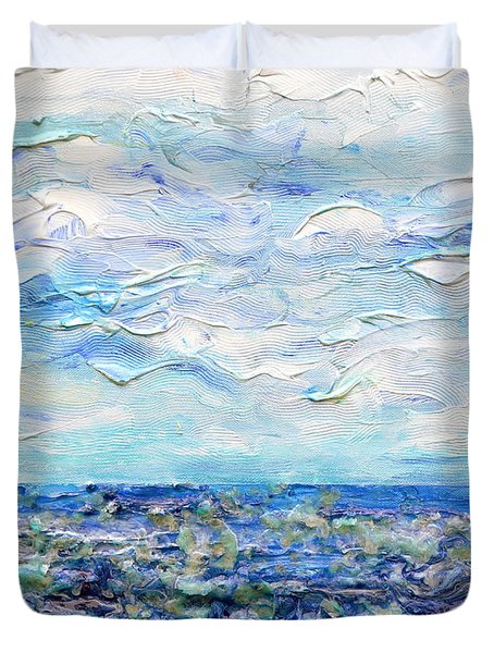 surf study Duvet Cover by Regina Valluzzi