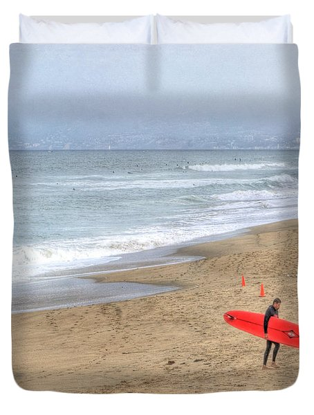 Surfer Boy Duvet Cover by Juli Scalzi