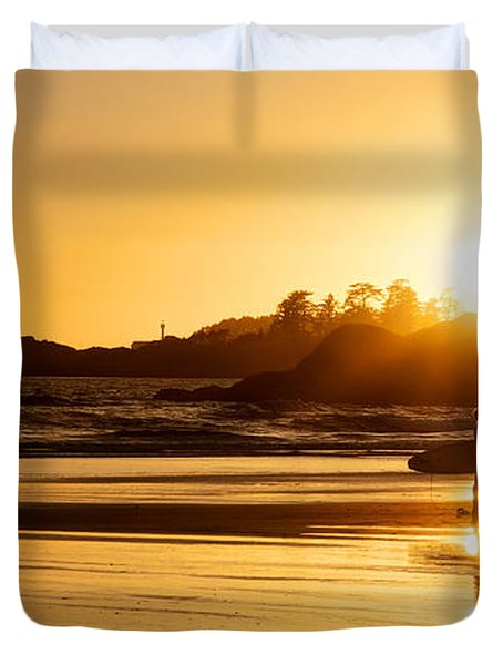 Surfing Reflections Duvet Cover by Lisa Knechtel