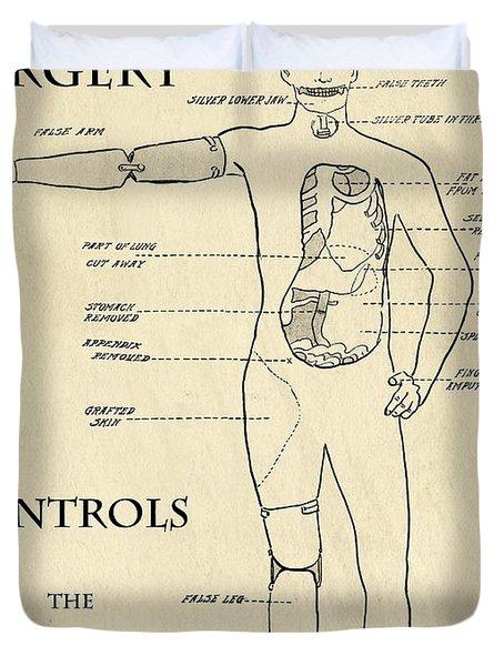 Surgery Controls The Human Mechanism   1906 Duvet Cover by Daniel Hagerman