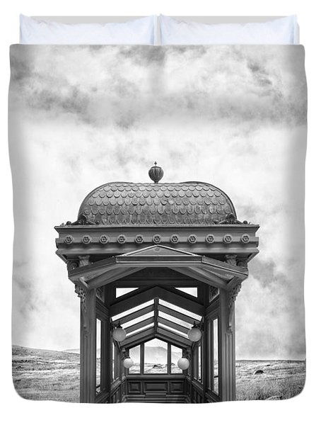 Subway Surreal Duvet Cover by Edward Fielding
