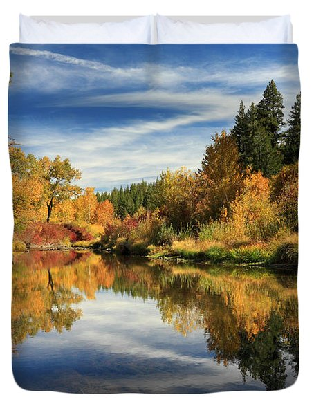 Susan River 10-28-12 Duvet Cover by James Eddy