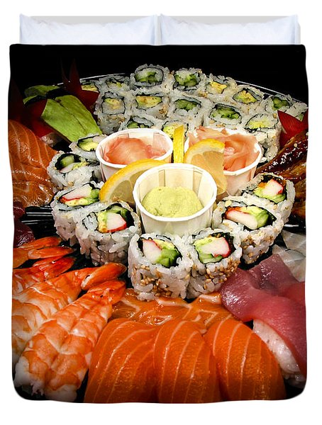 Sushi party tray Duvet Cover by Elena Elisseeva