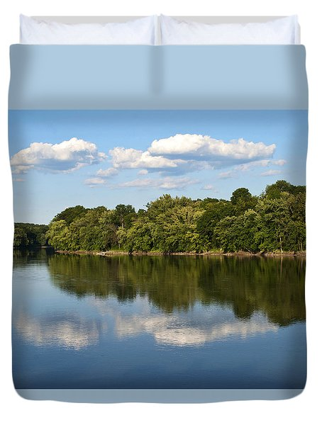 Susquehanna River Duvet Cover by Christina Rollo