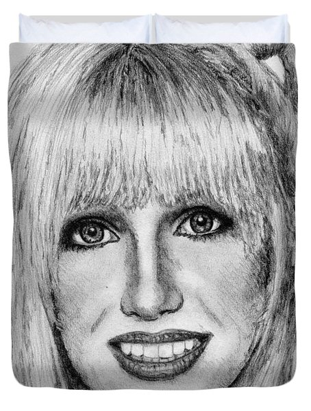 Suzanne Somers In 1977 Duvet Cover by J McCombie