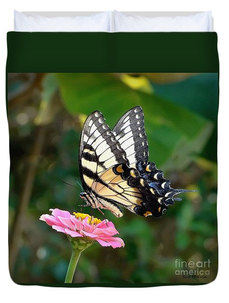 Swallowtail Butterfly 3 Duvet Cover by Sue Melvin