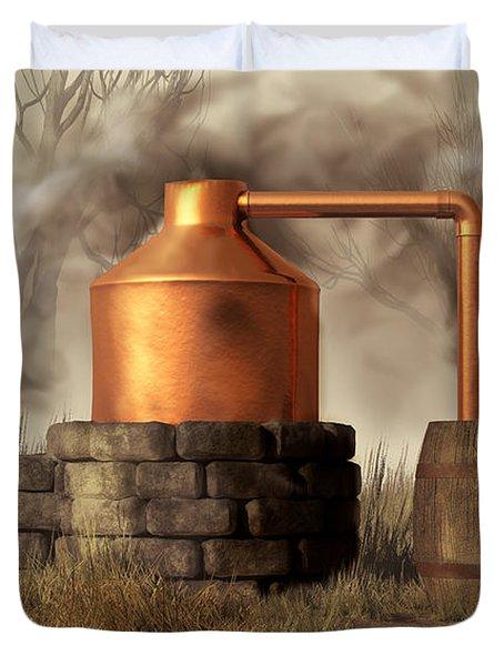 Swamp Moonshine Still Duvet Cover by Daniel Eskridge