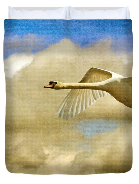Swan Song Duvet Cover by Lois Bryan