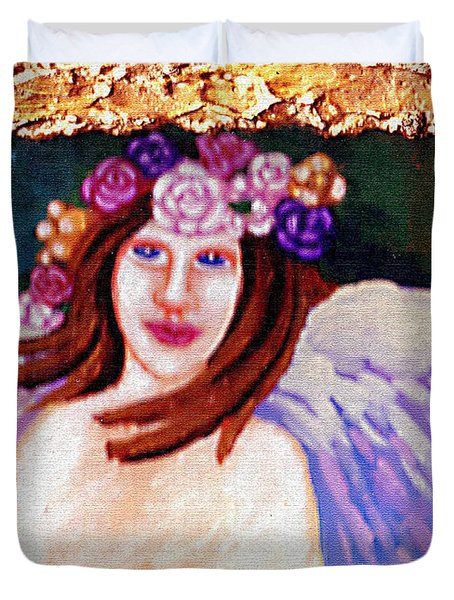 Sweet Angel Duvet Cover by Genevieve Esson