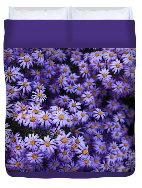 Sweet Dreams Of Purple Daisies Duvet Cover by Carol Groenen