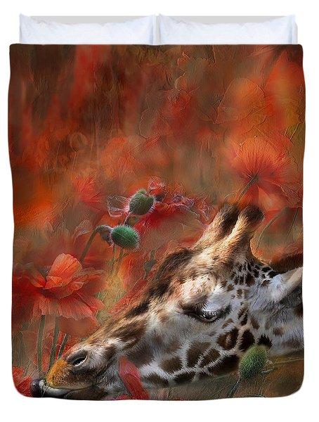 Sweet Taste Of Spring Duvet Cover by Carol Cavalaris