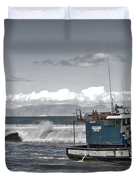 Swell Return Duvet Cover by Andrew  Hewett