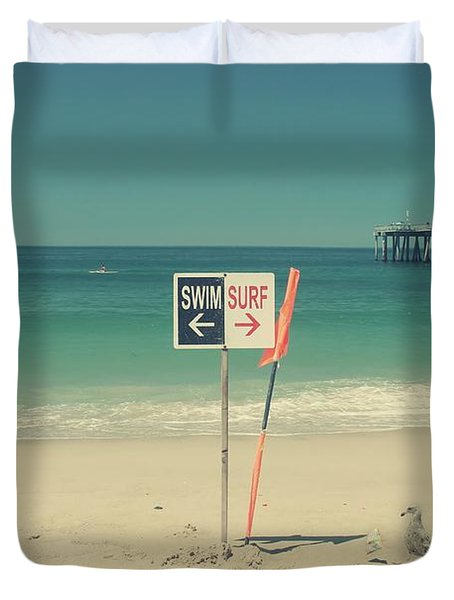 Swim And Surf Duvet Cover by Laurie Search