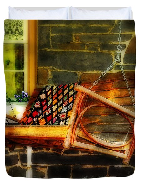 Swing Me Duvet Cover by Lois Bryan