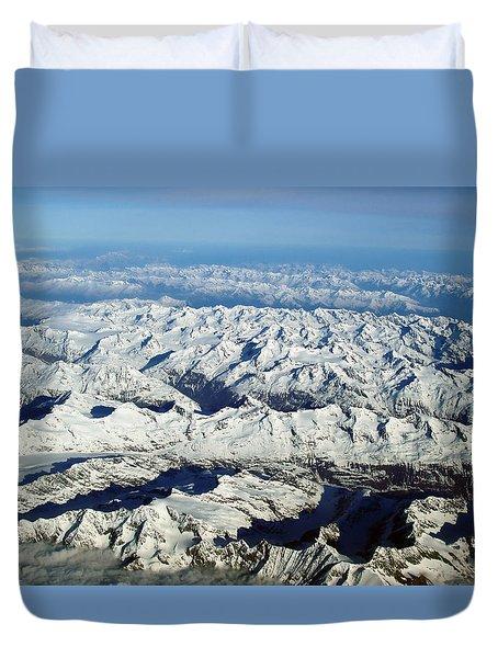 Swiss Alps Duvet Cover by Ellen Henneke