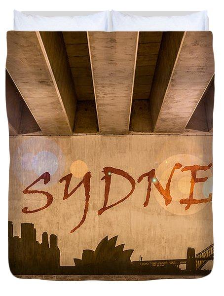 Sydney Graffiti Skyline Duvet Cover by Semmick Photo