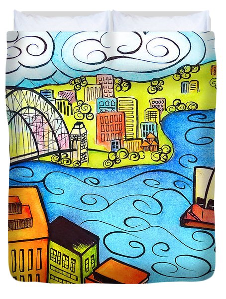 Sydney Harbour  Duvet Cover by Oiyee  At Oystudio