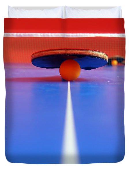 Table Tennis Duvet Cover by Michal Bednarek