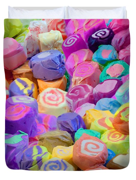 Taffy Candyland Duvet Cover by Alixandra Mullins
