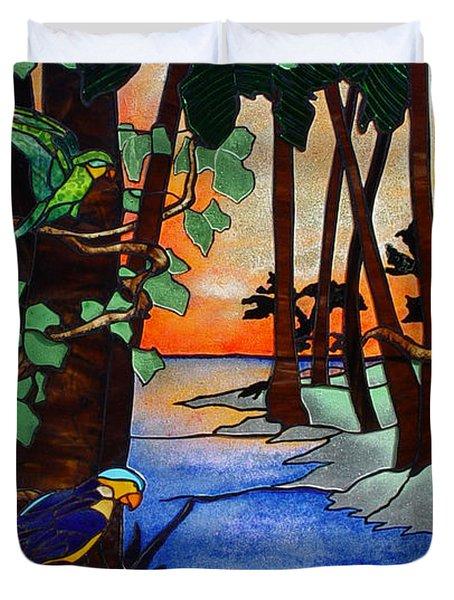 Tahiti Window Duvet Cover by Peter Piatt