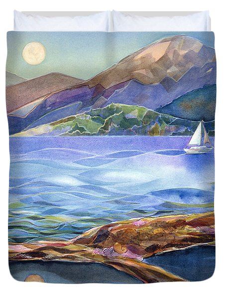 Tahoe Tides Duvet Cover by Jen Norton