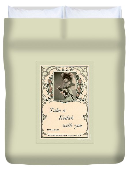 Take a Kodak With You Duvet Cover by Anne Kitzman