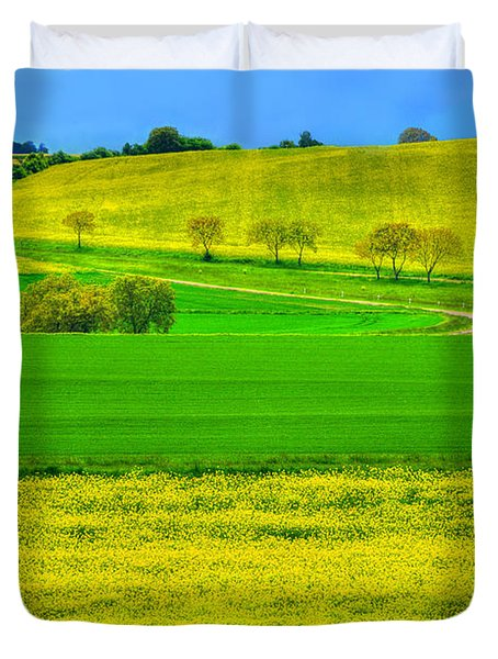 Take Me Home Country Road Duvet Cover by Midori Chan