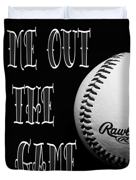 Take Me Out To The Ball Game - Baseball Season - Sports - B W 2 Duvet Cover by Andee Design