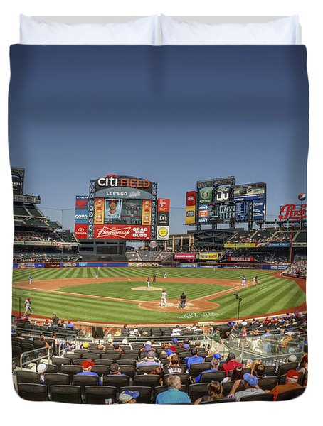 Take Me Out To The Ballgame Duvet Cover by Evelina Kremsdorf