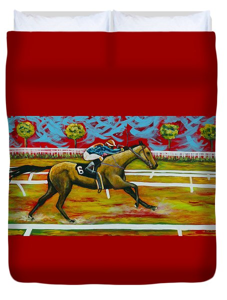 Taking The Lead Duvet Cover by Eve  Wheeler