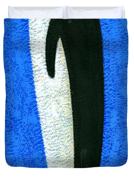 Tall Penguin Duvet Cover by Brian James