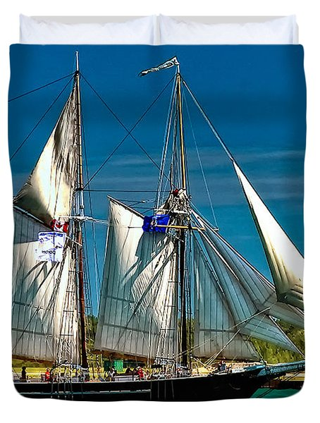 Tall Ship Duvet Cover by Steve Harrington