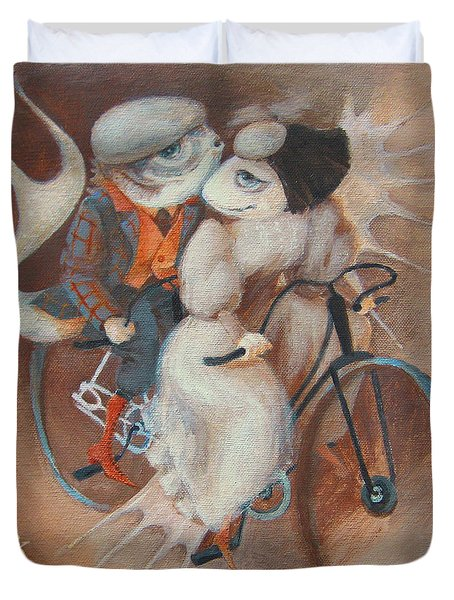 Tandem Duvet Cover by Marina Gnetetsky