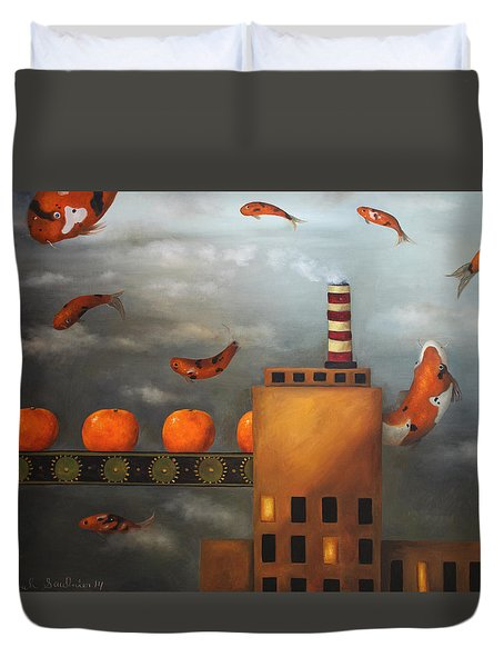 Tangerine Dream Duvet Cover by Leah Saulnier The Painting Maniac