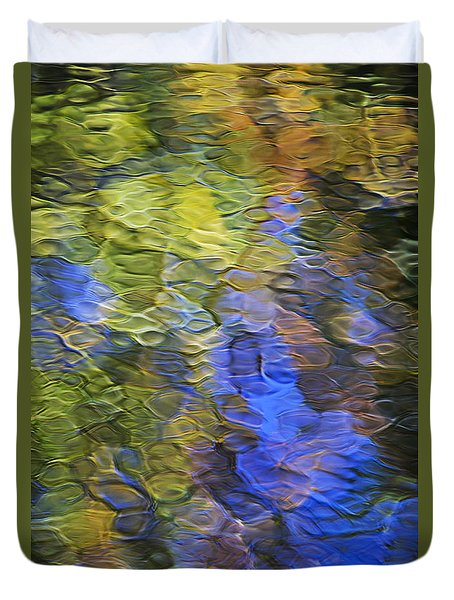 Tangerine Twist Mosaic Abstract Art Duvet Cover by Christina Rollo