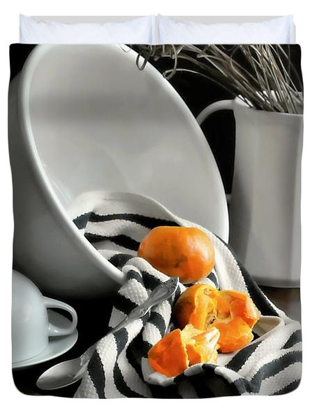 Tangerines Duvet Cover by Diana Angstadt