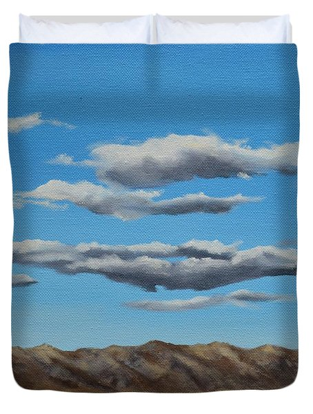 Taos Clouds Duvet Cover by Mary Rogers