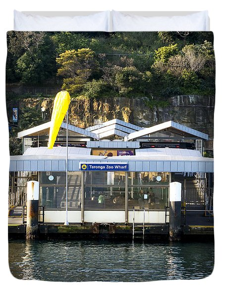 Taronga Zoo Wharf Duvet Cover by Steven Ralser