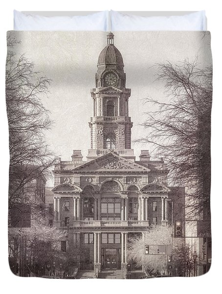Tarrant County Courthouse Duvet Cover by Joan Carroll