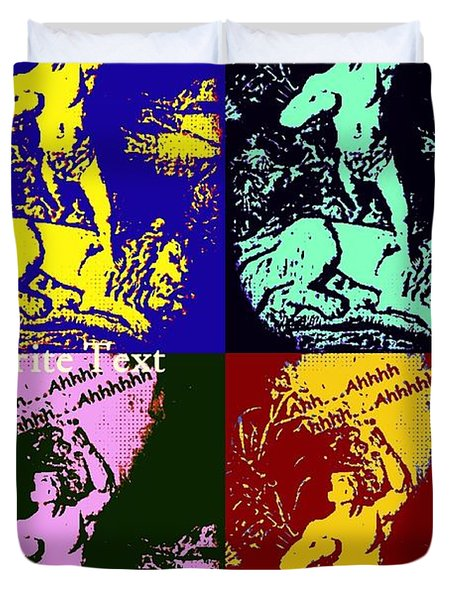 Tarzan Goes Pop Duvet Cover by John Malone