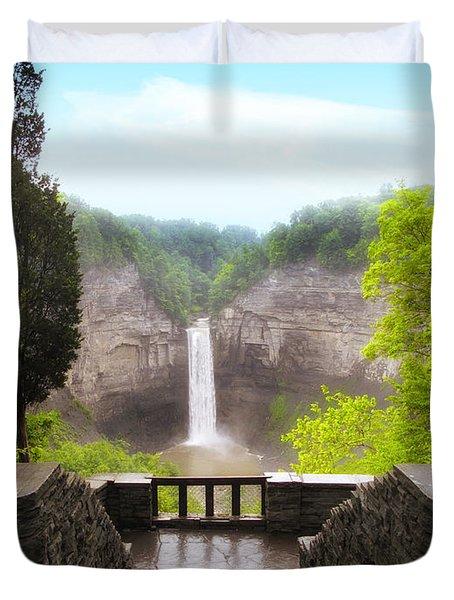 Taughannock Falls Duvet Cover by Jessica Jenney
