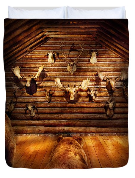 Taxidermy - Home Of The Three Bears Duvet Cover by Mike Savad
