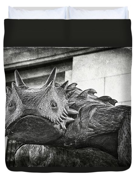 Tcu Horned Frog 2014 Duvet Cover by Joan Carroll