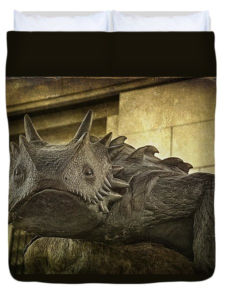 Tcu Horned Frog Duvet Cover by Joan Carroll