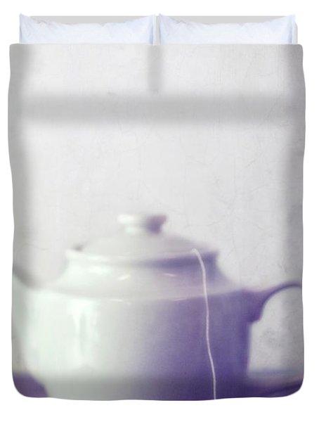Tea Jug Duvet Cover by Priska Wettstein